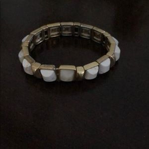 Stella and Dot gold and white bracelet